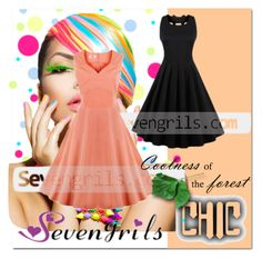 """""""Sevengirls#16"""" by bamra ❤ liked on Polyvore featuring vintage and sthash"""