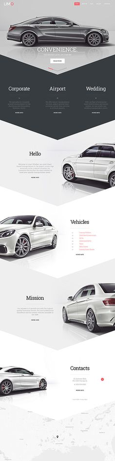 Luxury Limo Service #website #template. #themes #business #responsive #websitethemes