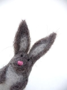 Easter bunny needle felted sculpture