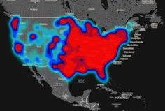 Geography of Hate twitter map by Humboldt State University in California