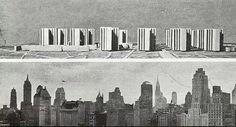 Le Corbusier Cartesian skyscrapers