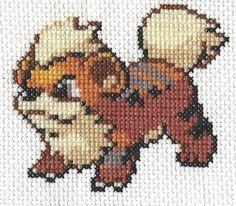 Growlithe Pokemon Cross Stitch Pattern by NintindolNerdyStitch