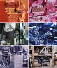 Helga Steppan - audited all of her belongings and divided them into a full spectrum of colours