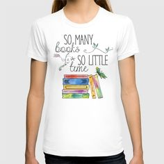So+Many+Books,+So+Little+Time+Design+T-shirt+by+Evie+Seo+-+$22.00