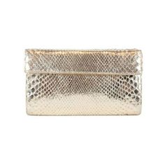 Pre-Owned Nancy Gonzalez Gold Snake Skin Clutch ($465) ❤ liked on Polyvore featuring bags, handbags, clutches, pre owned handbags, gold purse, snake skin handbags, nancy gonzalez handbags and gold clutches