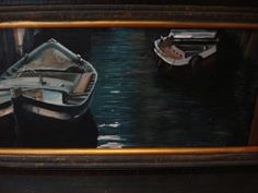 """From my photograph in Venice. """"Quiet Venice"""". Oil on canvas."""