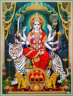 The Chandi Homam is offered to Goddess Durga and helps in clearing deterrents and obstacles in the way to success. Shiva Art, Shiva Shakti, Hindu Art, Maa Durga Photo, Maa Durga Image, Durga Ji, Maa Durga Hd, Vaishno Devi, Mata Rani