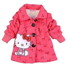 >> Click to Buy << 2016 Fashion Children's coats girls Hello Kitty winter warm coat children cotton jacket thick cotton-padded clothes #Affiliate