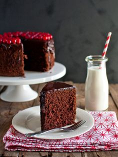 I've said it before, but it was a whole month ago, so it's time to say it again: Chiffon cakes are the best cakes. And this particular chiffon cake is pretty damn good. Chocolate Chiffon Cake, Chocolate Desserts, Chocolate Cake, Torta Chiffon, Sweet Recipes, Cake Recipes, Light Cakes, Cake Mixture, Traditional Cakes