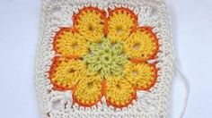 """How to Crochet * Granny Square """"Somalia"""" * African Flower * Paperweight, via YouTube."""
