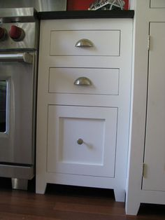 [Use this kind of toe kick if need a toe kick?] face frame kitchen cabinets with inset doors - Google Search