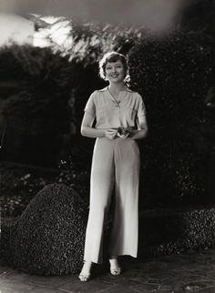 Myrna Loy in pants, 1930s