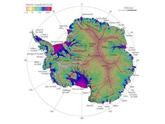 First complete map of the speed and direction of ice flow in Antarctica, derived from radar interferometric data from the Japan Aerospace Exploration Agency's ALOS PALSAR, the European Space Agency's Envisat ASAR and ERS-1/2, and the Canadian Space Agency's RADARSAT-2 spacecraft.