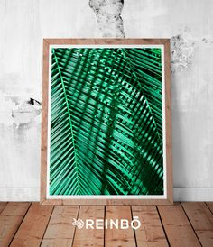 Tropical Leaf Print, Green Palm Art, Palm Art, Palm Leaves, Art Green, Tropical Prints, Palm Leaf Prints, Tropical Decor, Green Deocr by REINBOPRINTS on Etsy