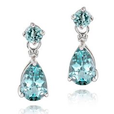 Glitzy Rocks Sterling Silver Marcasite and Gemstone Heart Earrings - Overstock Shopping - Top Rated Glitzy Rocks Gemstone Earrings