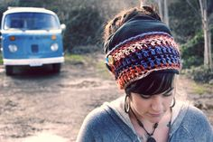 dreads. LOVE this headband.