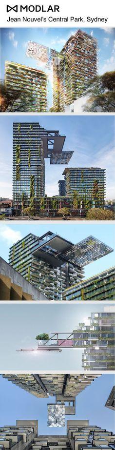 Jean Nouvel's Central Park, Sydney. Modlar.com #Nouvel #Sydney #Architecture