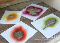 Friday Quickie: Framelit Stencils with Lighthearted Leaves and Leaflet Framelits by The Creativity Cave, Dena Rekow #stampinup Lighthearted Leaves, Leaflets Framelits