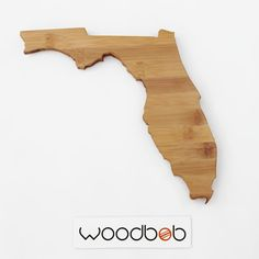 14 Florida Bamboo State Shaped Cutting Board by by woodbob on Etsy, $55.00