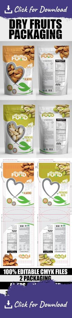 Creative and Inspiring Dry Fruits Packaging Design Samples Rice Packaging, Dessert Packaging, Pouch Packaging, Food Packaging Design, Coffee Packaging, Packaging Design Inspiration, Dried Fruit, Potato Chips, Snacks