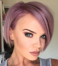 Maria Fowler gets her blonde crop dyes lilac by Ben Brown Hair in Derby, 27 June 2015
