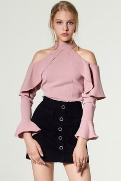 Nathalie Ruffle Off-the-Shoulder Blouse Discover the latest fashion trends online at storets.com