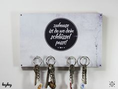 Schlüsselbretter & -kästen - 彡 KeyKey Schlüsselbrett | Zuhause - ein Designerstück von claus-peter-2 bei DaWanda