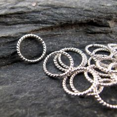 small 6mm cartilage ring hoop. piercing. by CecileStewartJewelry, $5.95