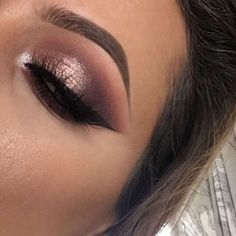 mauve shimmer smokey eye