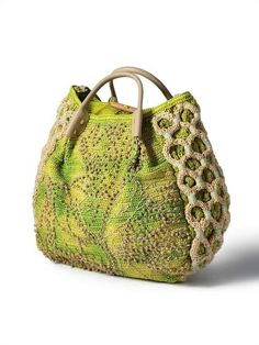 Designer Purses And Handbags, Purses And Bags, Homemade Bags, Fabric Tote Bags, Bag Quotes, Crochet Handbags, Crochet Bags, Art Bag, Craft Bags