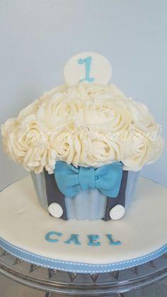 Little Man Bow Tie Giant Cupcake Smash Cake