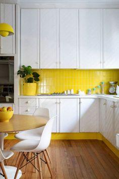 Yellow Tiles || Modern Kitchen #tiles #yellow #kitchen