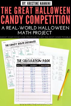 Looking for a fun Halloween math project? The Great Halloween Candy Competition is a real-world PBL activity requiring math and critical thinking skills. 5th Grade Classroom, Middle School Classroom, Halloween Math, Halloween Candy, Special Education Teacher, My Teacher, Math Projects, Critical Thinking Skills, Math Concepts