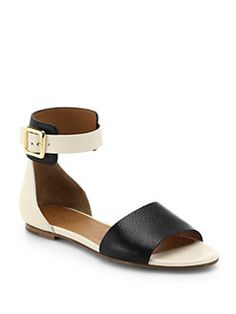 Chloe - Leather Ankle-Strap Sandals