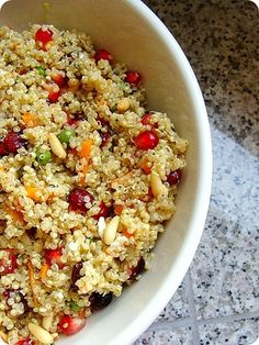 Quinoa Pomegranate salad