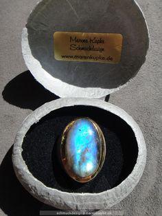 Ringe - Strahlend blauer Labradorit massives Silber - ein Designerstück von Schmuckdesign-MarenKupke bei DaWanda