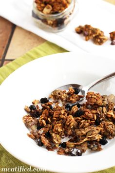 Crunchy Banana Maple Nut Free Granola from http://meatified.com #paleo #glutenfree #vegetarian #vegan
