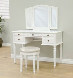 Frenchi Home Furnishing Vanity Set, White Frenchi Home Furnishing http://www.amazon.com/dp/B00I38QM7Q/ref=cm_sw_r_pi_dp_-c0bub1K0SEVZ