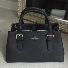 Authentic Kate Spade satchel Gorgeous black saffiano Kate Spade satchel. Comes with over the shoulder strap kate spade Bags