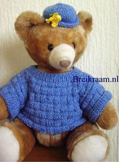 Breipatroon berentrui en mutd voor teddybeer 38 cm