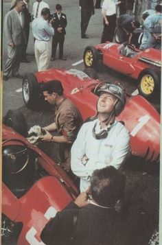 Wolfgang Graf Berghe von Trips - better known as 'Taffy', Ferrari, 1960 Ferrari Racing, Ferrari F1, F1 Racing, Formula 1, Racing Events, Car And Driver, Vintage Racing, Types Of Races, Grand Prix