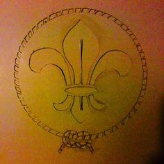 scout logo stencil