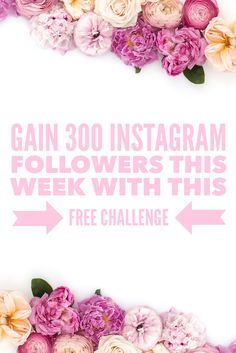 Free Instagram challenge to grow your Instagram following in one week!