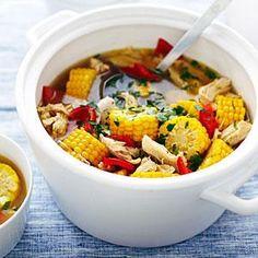 Peruvian-Style Corn, Pepper, and Chicken Soup | MyRecipes.com