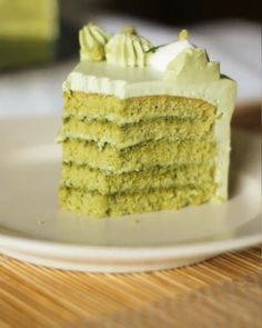 Pure Organic Matcha Tea Powder is meant to be enjoyed without sweeteners or additives. It is pure Matcha powder. Köstliche Desserts, Delicious Desserts, Dessert Recipes, Green Tea Recipes, Sweet Recipes, Gourmet Cakes, Food Cakes, Matcha Cake, Star Cakes