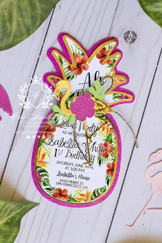 Luau Invitations tropical Invitation girl birthday Luxury