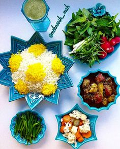 Islamic Art Pattern, Pattern Art, Salad Design, Persian Culture, Iranian Food, Arabic Food, Avocado Toast, The Best, Beverages