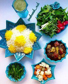 Islamic Art Pattern, Pattern Art, Salad Design, Persian Culture, Iranian Food, Arabic Food, Avocado Toast, The Best, Beverages