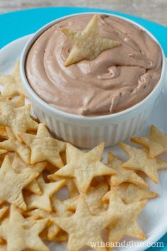 Skinny Banana Nutella Dip with Pie Crust Star Dippers Recipes