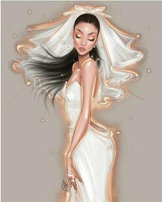 Wedding Looks, Fall Wedding, Wedding Ideas, Arte Fashion, Wedding Illustration, Fashion Illustration Dresses, Fanart, Ariana Grande, Wonder Woman